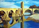 Wasser, Ölmalerei, Landschaft, Spiegel