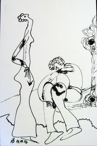 Abstrakt, Zeichnung, Freie, Tusche, Zeichnungen,