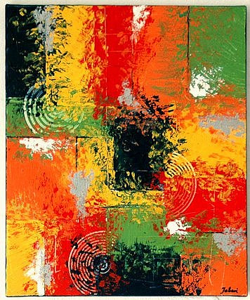 Orange, Struktur, Weiß, Spachteltechnik, Grün, Abstrakt