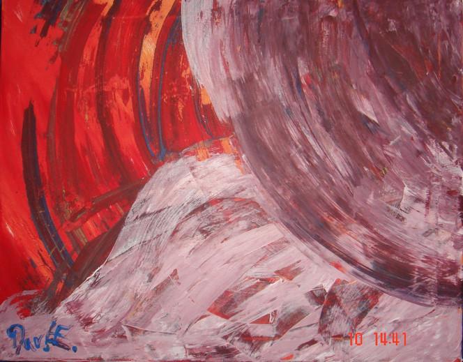 Sonne, Rot, Sonnenaufgang, Malerei, Abstrakt