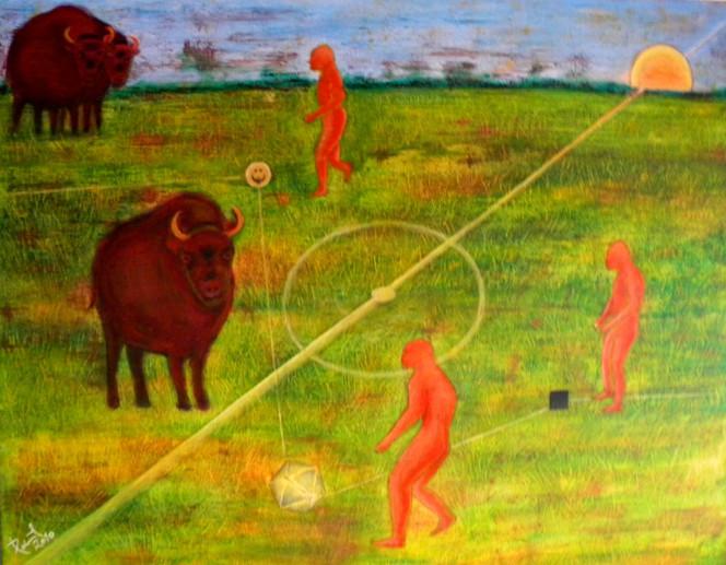 Neanderthal, Erkrath, Malerei, Surreal,