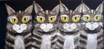 Tiere, Braun, Katze, Malerei