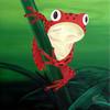 Frosch, Grün, Tiere, Rot