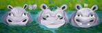 Grün, Flusspferd, Hippos, Malerei