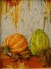 Herbst, Stillleben, Malplatte, Ölmalerei