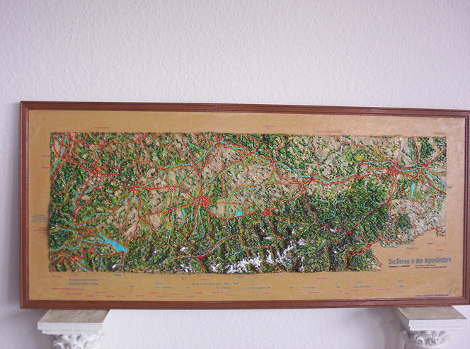 Wald, Berge, Wasser, Relief, Landschaft, Malerei