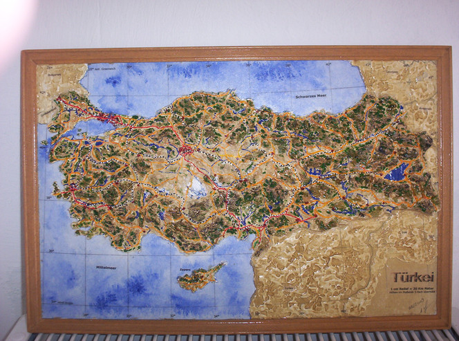 Osten, Landschaft, Realismus, Relief, Plastik, Türkei