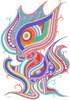 Fantasie, Buntstiftzeichnung, Zeichnungen, Abstrakt