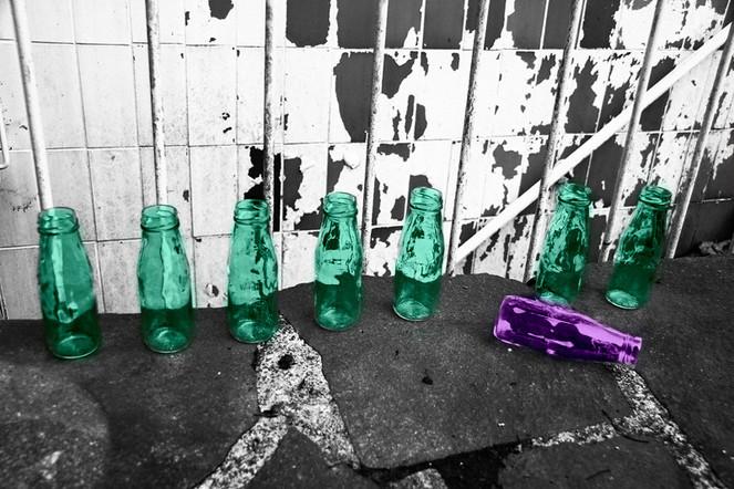 Grün, Rosa, Flasche, Fotografie, Grafik