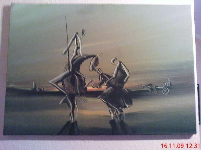 Malen, Sagen, Dalí, Di giorgio, Pinnwand