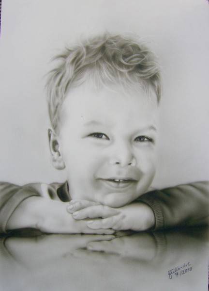 Kinder, Portrait, Grafik