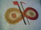 Acrylmalerei, Rot, Gold, Malerei