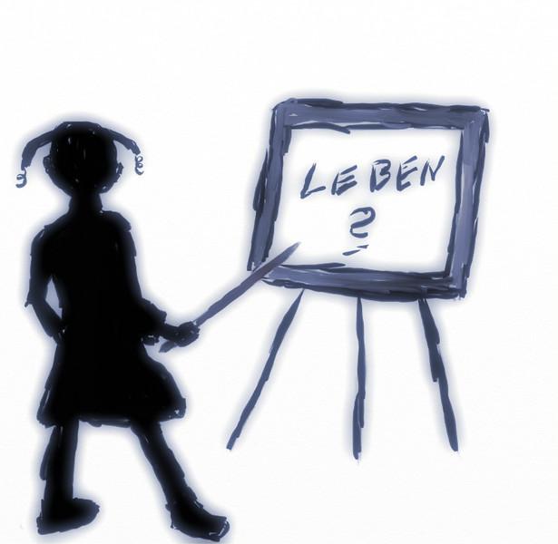 Lehrer, Frage, Leben, Malerei,
