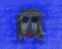 Gesicht, Blau, Maske, Selbstportrait