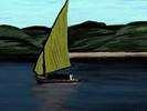 Boot, Segel, Himmel, Wasser