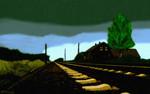 Strecke, Bahn, Himmel, Schiene