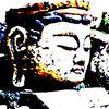 Japanisch, Buddhismus, Meditation, Stein