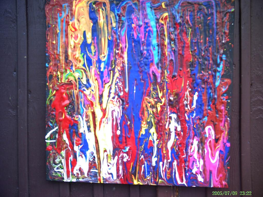 bild rot blau gelb malerei abstrakt flammen von klameth bei kunstnet. Black Bedroom Furniture Sets. Home Design Ideas