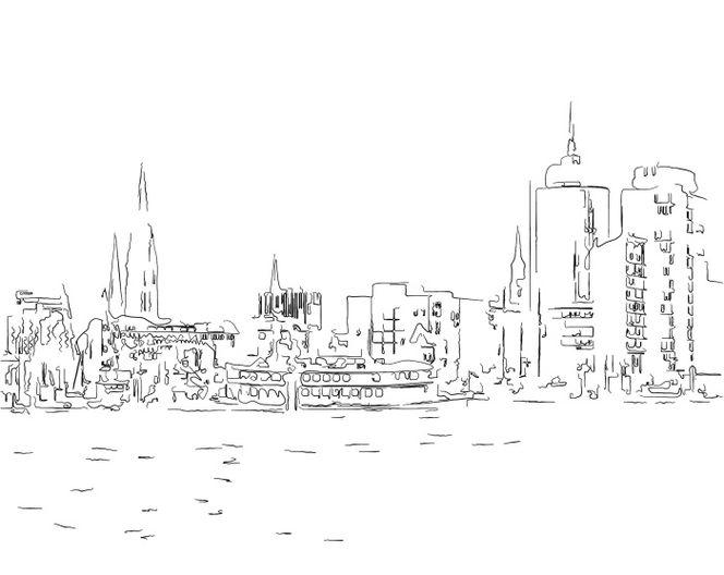 Hamburger, Hafencity, Hafen, Zeichnung, Zeichnungen, Hafen hamburg