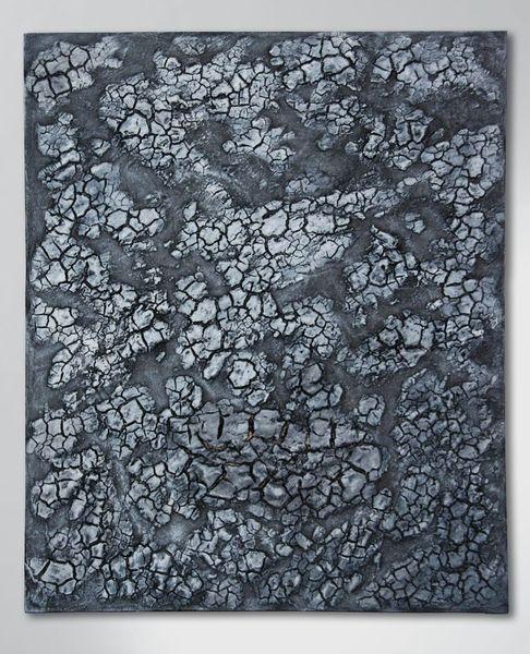 Holz, Acrylrelief, Abstrakt, Grau, Bruch, Kunsthandwerk