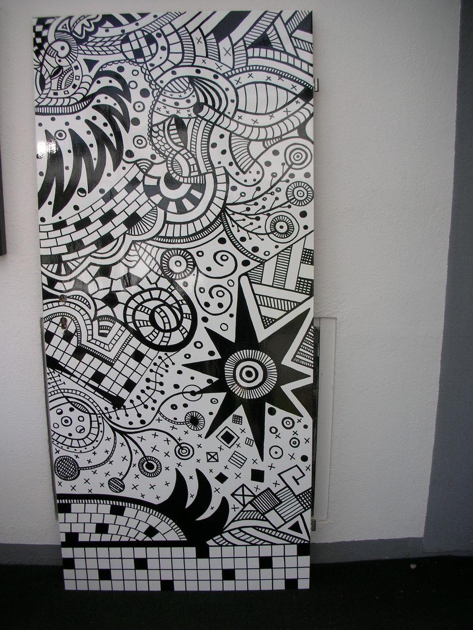 bild schwarz wei edding zeichnungen von g nter klemusch bei kunstnet. Black Bedroom Furniture Sets. Home Design Ideas