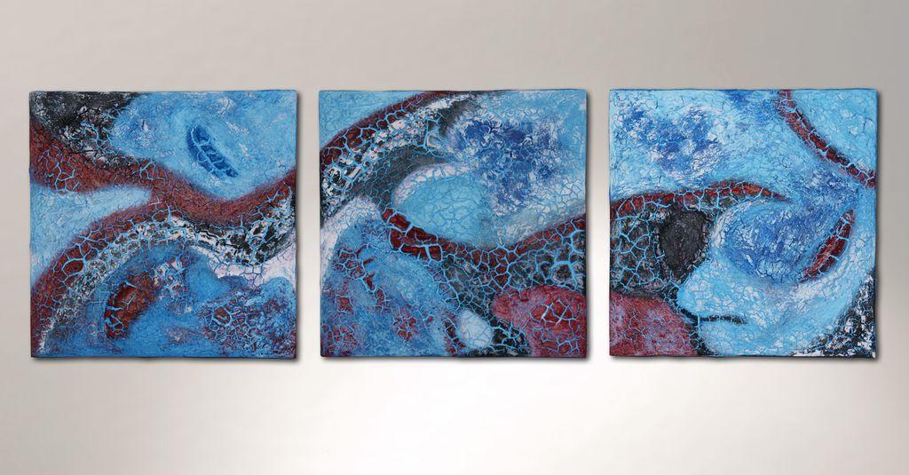 triptychon relief triptychon acrylmalerei malerei von g nter klemusch bei kunstnet. Black Bedroom Furniture Sets. Home Design Ideas