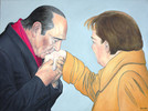 Handkuss, Präsident, Bundeskanzlerin, Deutschland