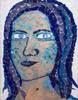 Malerei, Menschen, Blau, Frau