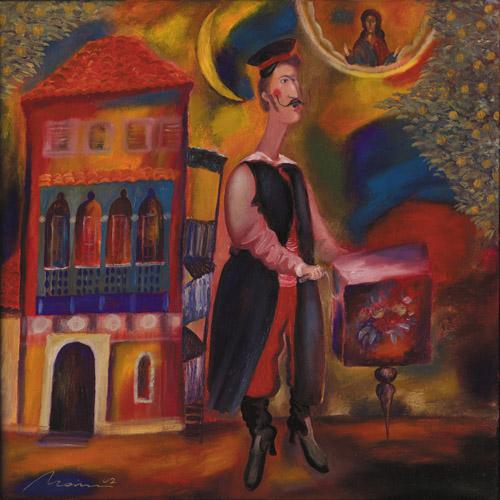 Malerei, Kunsthandel, Ölmalerei, Menschen,