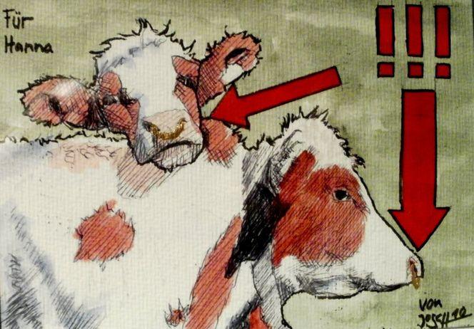 Kühe kuh, Malerei, Ganzes