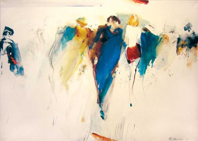 Figur, Acrylmalerei, Ölmalerei, Menschen, Abstrakt, Malerei