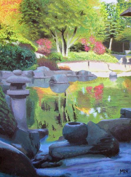 Japan, Hamburg, Park, Herbst, Garten, Teich