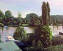 Idylle, Boot, Wasser, Garten