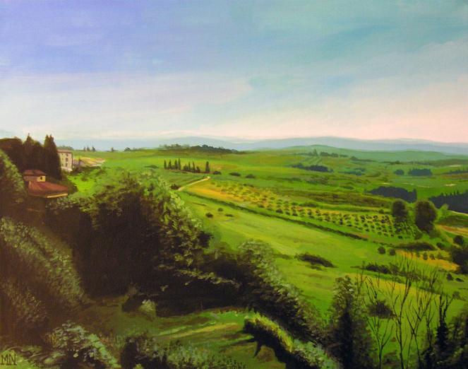 Toskana, Landschaft, Chianti, Idylle, Italien, Malerei
