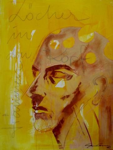 Malerei, Surreal, Kopf