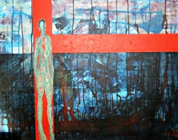 Acrylmalerei, Spachtel, Malerei, Abstrakt, Band,