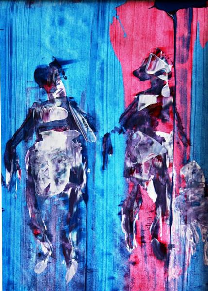 Acrylmalerei, Spachtel, Malerei,