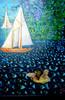Acrylmalerei, Collage, Malerei, Augen