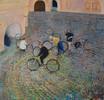 Malerei, Tour, Bike,