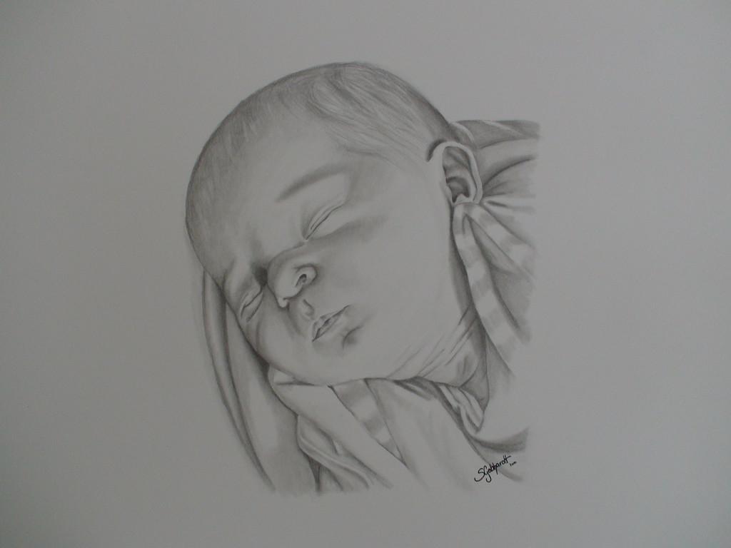 bild zeichnungen portrait baby von steffi86 bei kunstnet. Black Bedroom Furniture Sets. Home Design Ideas