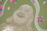Kopf, Buddha, Wasserfarben, Aquarell