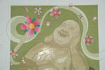 Buddha, Blattmetall, Wasserfarben, Aquarell