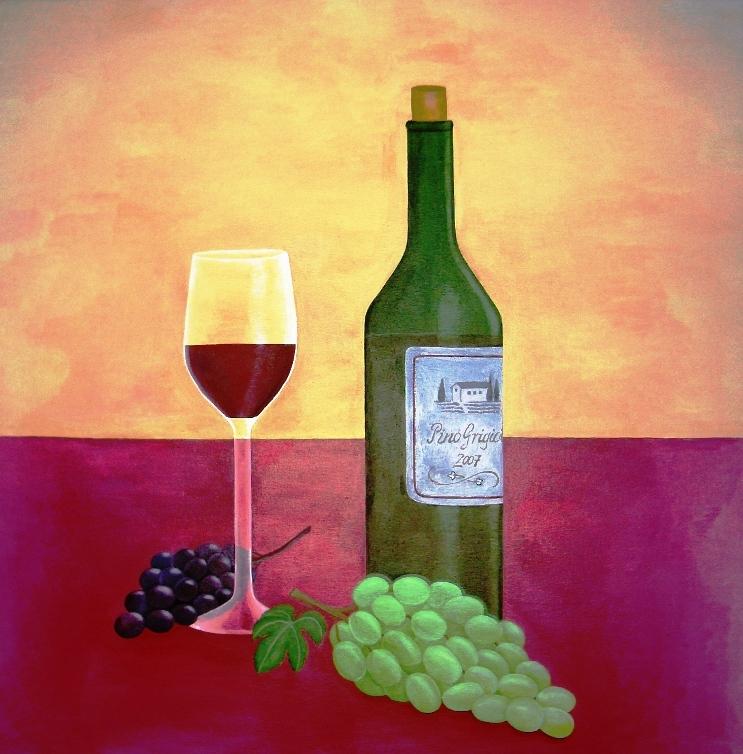 Stilleben mit Trauben - Wein, Stillleben, Trauben