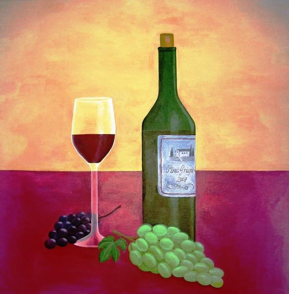 Wein, Stillleben, Trauben, Weintrauben, Zeichnungen