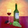 Stillleben, Wein, Weintrauben, Trauben