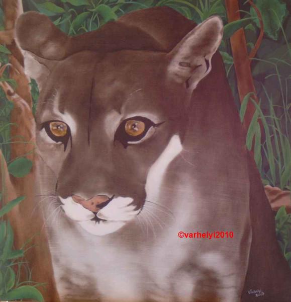 Tiere, Tiermalerei, Tierportrait, Großkatze, Realismus, Malerei