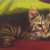 Tiermalerei, Augen, Bett, Versteck