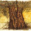 Landschaft, Holz, Zeichung, Baum