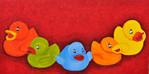 Ente, Farben, Kinder, Malerei