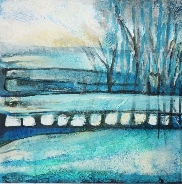 Struktur, Blau, Malerei, Abstrakt